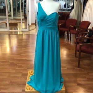 Jade green bridesmaid dress